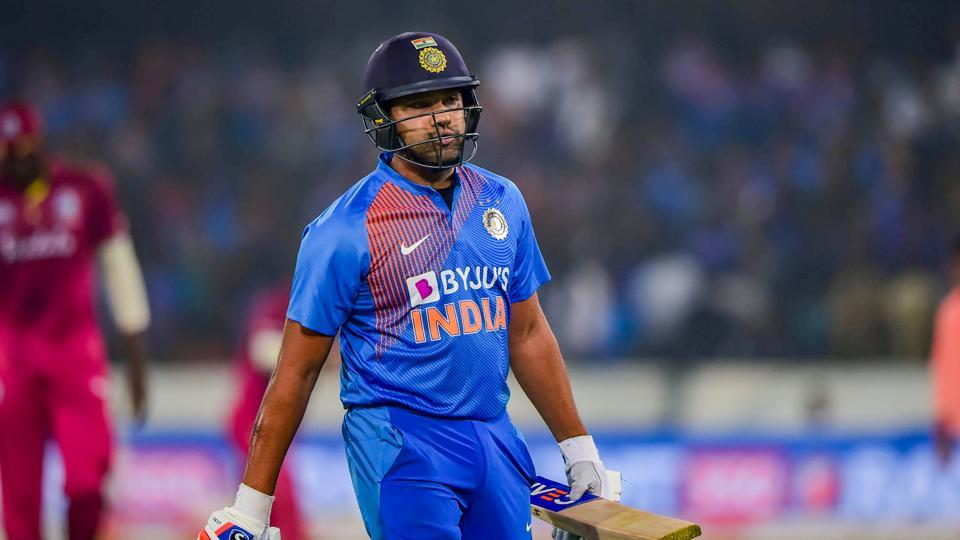 Rohit Sharma during the first T20 match against West Indies, at Rajiv Gandhi International Stadium in Hyderabad.