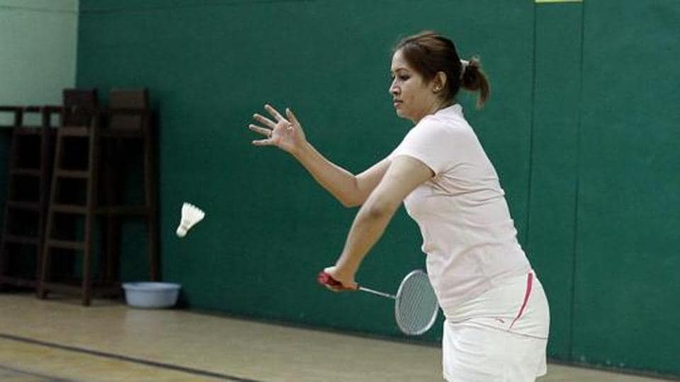 Jwala Gutta during a training session at LG Stadium, in Hyderabad, India.