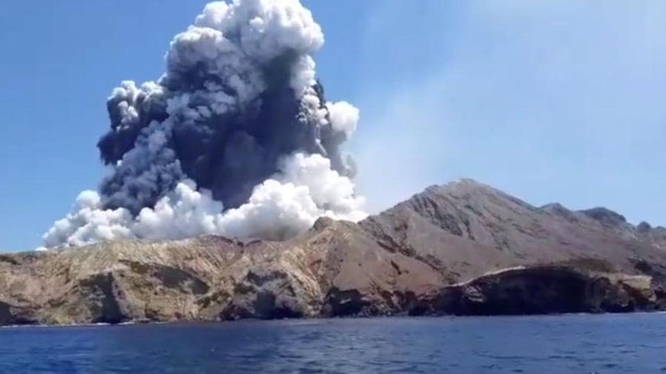 The eruption at White Island -- also known as Whakaari -- occurred just after 2:00 pm Monday (0100 GMT), thrusting a thick plume of white ash 3.6 kilometres (12,000 feet) into the sky.