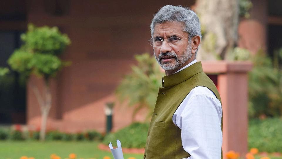 External Affairs Minister S Jaishankar leaves after the BJP parliamentary party meeting at Parliament House, in New Delhi.