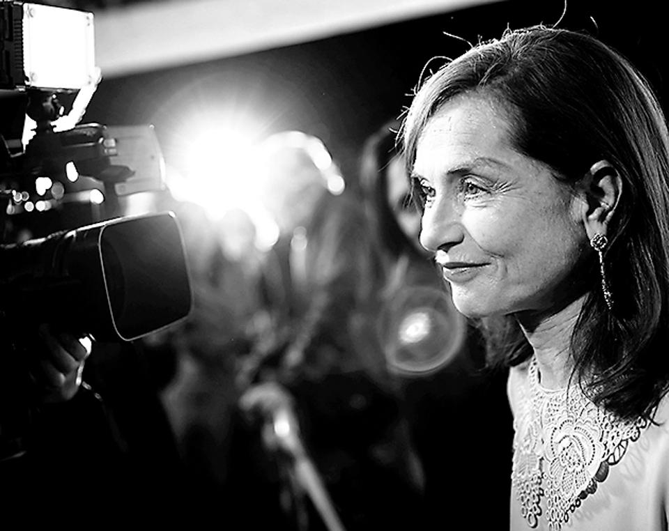 Actress Isabelle Huppert at the screening of Elle in London. She was nominated for an Oscar for the film.