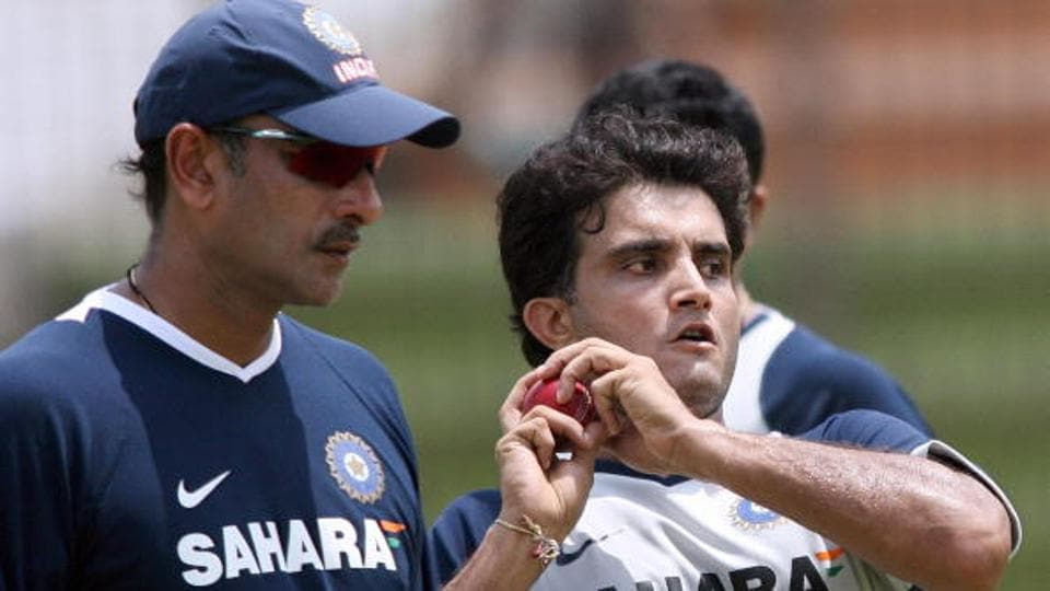 A file photo of Ravi Shastri (L) and Sourav Ganguly.
