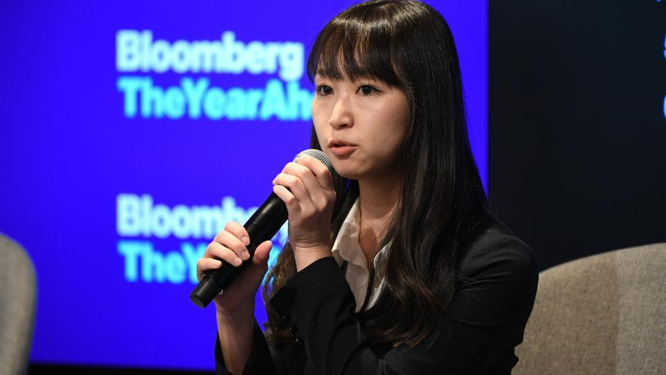 Yumi Ishikawa, actor, writer and founder of #KuToo, speaks during the Bloomberg Year Ahead summit in Tokyo, Japan, on Thursday, Dec. 5, 2019. The summit brings together leading names in business, politics, academia and society to shape the conversation around the the most important trends, issues and challenges every executive will need to consider in 2020 and beyond. Photographer: Akio Kon/Bloomberg