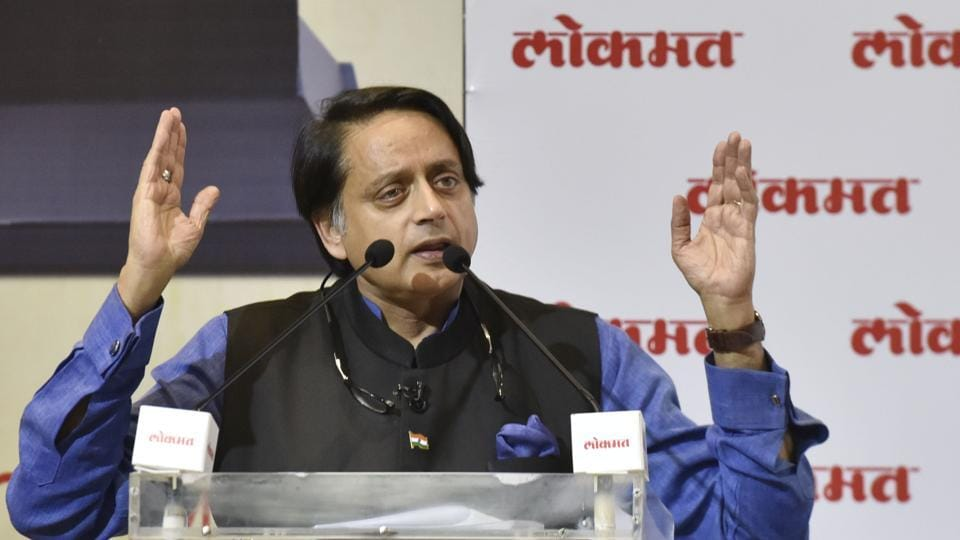 Member of Parliament, Lok Sabha and Congress leader Shashi Tharoor speaks during the Lokmat Parliamentary Awards 2019 at Ambedkar Centre, in New Delhi,  on Tuesday, December 10, 2019.