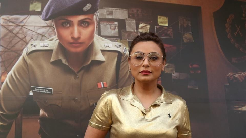 Rani Mukerji on the sets of actress Neha Dhupia's chat show