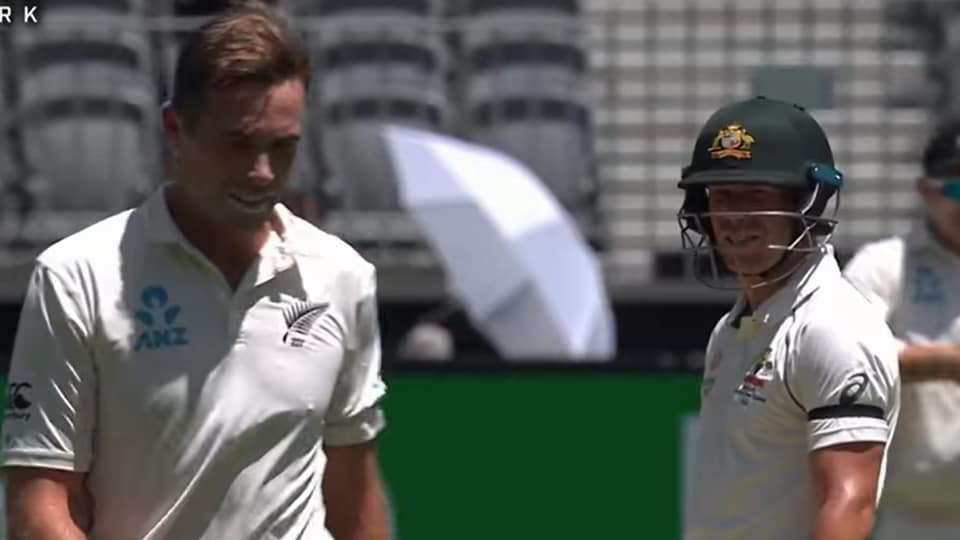 Image result for david warner tim southee 2019