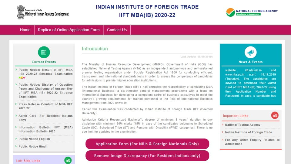 IIFT MBA Result 2019 postponed, to be declared onDecember 13. Check NTA's latest...
