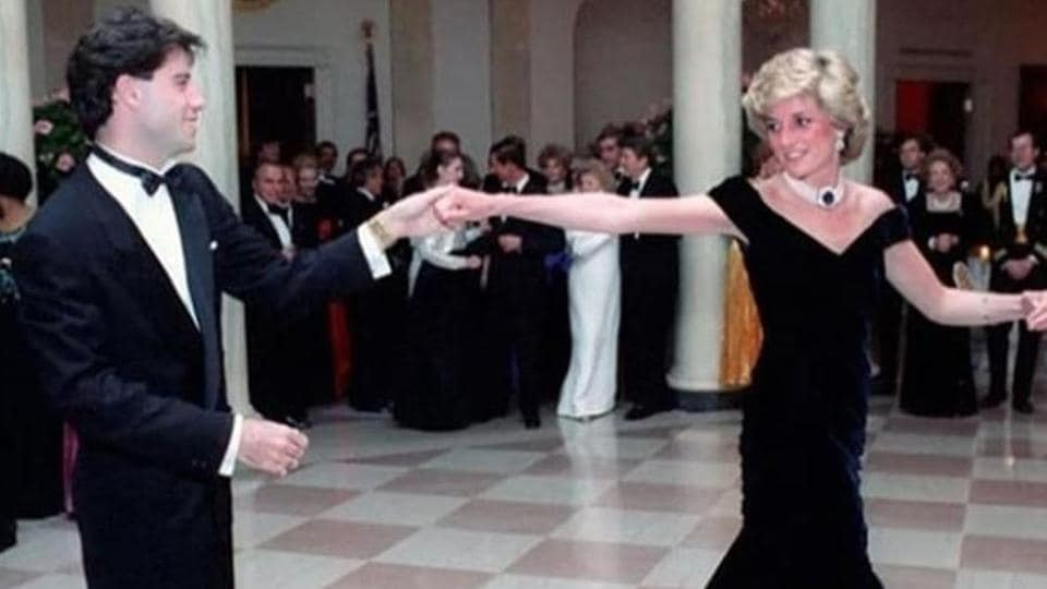 """Diana wore the dress in 1985 at a White House state dinner, where she danced with the """"Grease"""" actor."""