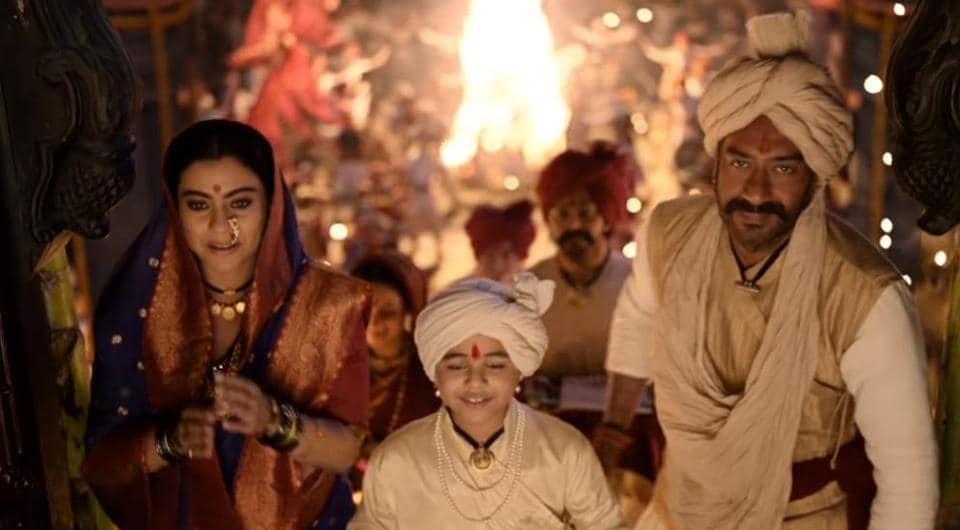 Tanhaji song Maay Bhavani: Kajol, Ajay Devgn celebrate Marathi folk traditions,...
