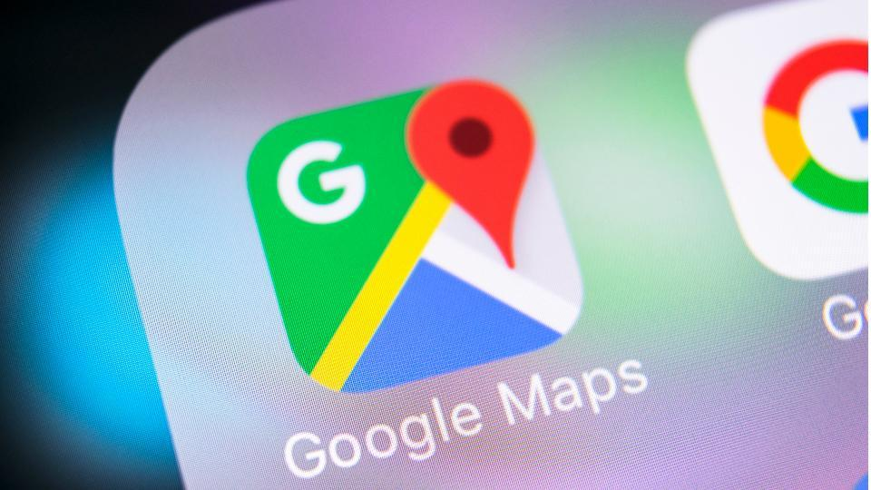 Google Maps features.