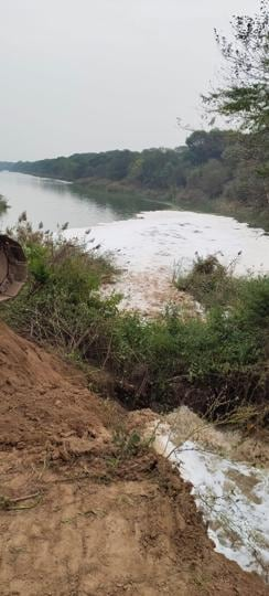 Treated sewage water from Kharar had been collecting in SYL canal for many years, and after the illegal dam was built, the overflowing water was damaging agricultural land  in  four low-lying villages
