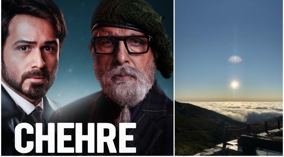 Amitabh Bachchan is in freezing Slovakia for Chehre shoot, shares pics of Sun, moon...