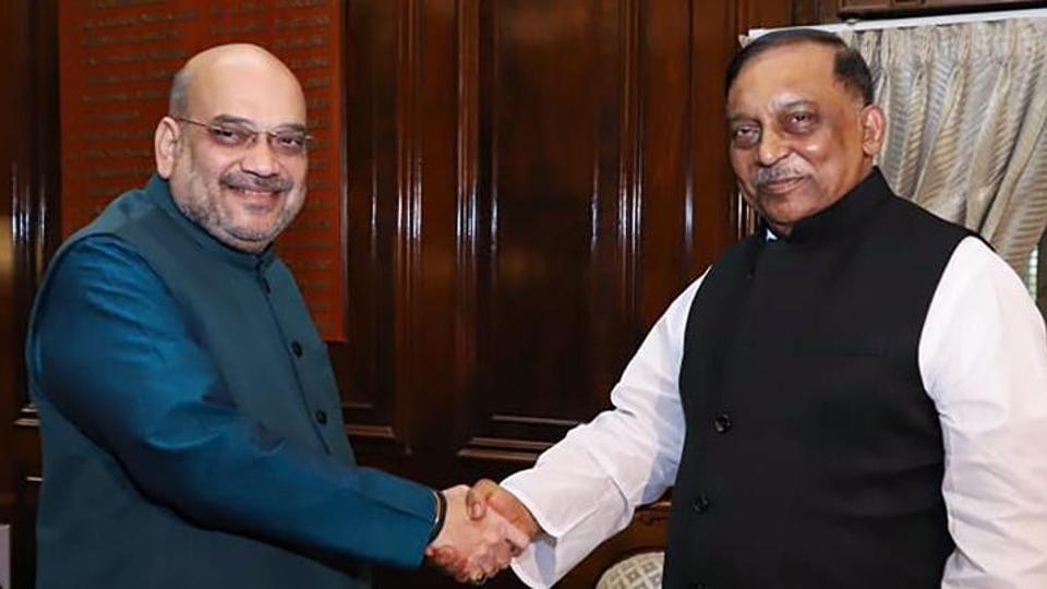 Home Minister Amit Shah with his Bangladeshi counterpart Asaduzzaman Khan