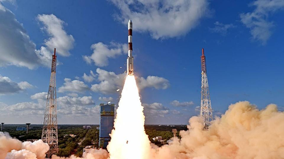 Isro launches RISAT-2BR1 and 9 customer satellites by PSLV-C48 from Satish Dhawan Space Centre (SDSC) SHAR, in Sriharikota on Wednesday. RISAT-2BR1 is a radar imaging earth observation satellite weighing about 628 kg.