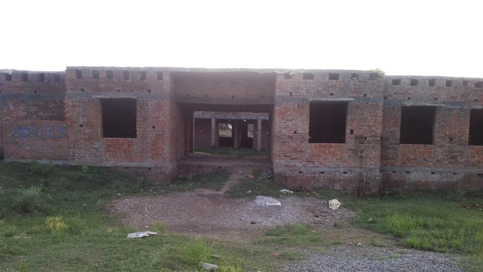Semi-constructed building of government high school at Khiri in Koraon development block of trans-Yamuna area of Prayagraj
