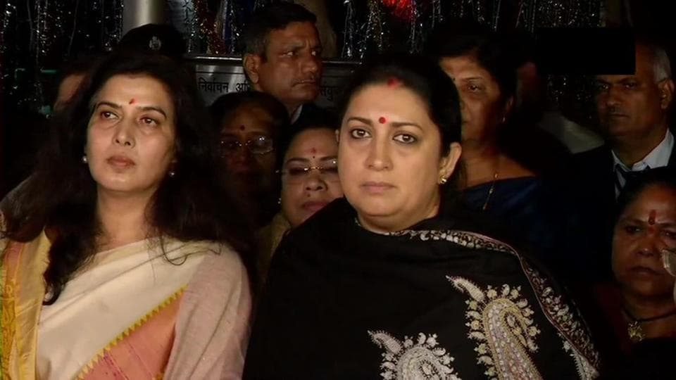 """Irani charged Gandhi with using rape as a """"political tool"""" in the wake of assembly polls in Jharkhand."""