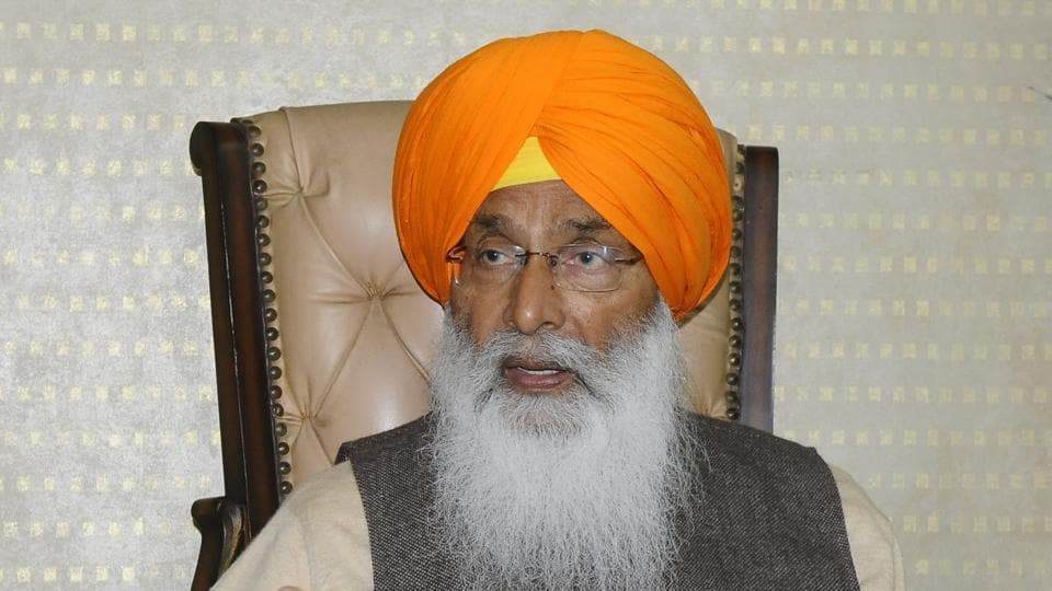 Shiromani Akali Dal leader Sukhdev Singh Dhindsa during an interview with HT at his residence in Sector 11, Chandigarh, on Friday.