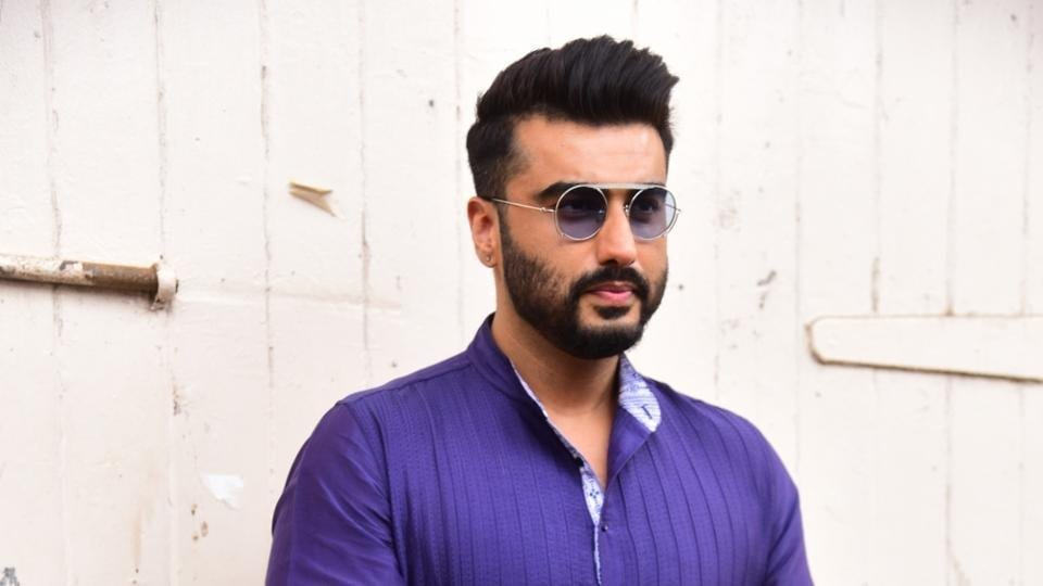 Actor Arjun Kapoor at the promotions of the film Panipat.