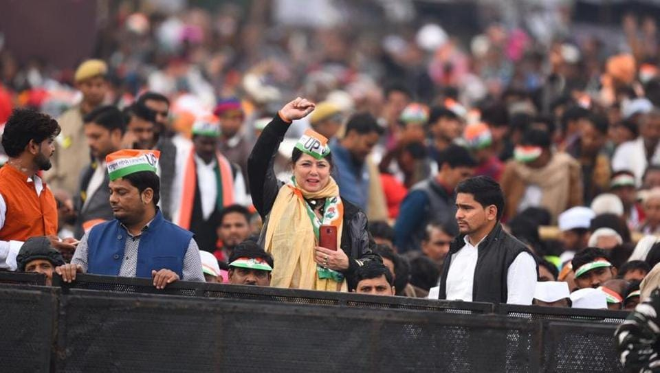 Scenes from Delhi's Ramlila grounds where Congress workers will take part in the 'Bharat Bachao' rally.