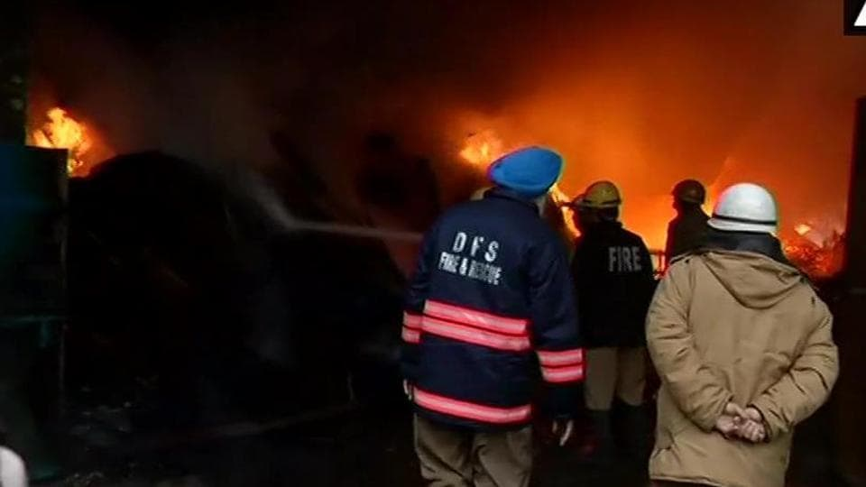 Fire broke out this morning in West Delhi's Mundka area, reported news agency ANI.