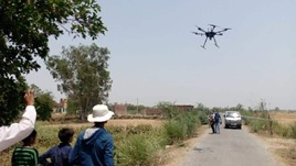 Indian and British scientists are using sensors on space-borne and unmanned aerial vehicle (UAV) platforms to map an area  on the banks of the Ganga basin.