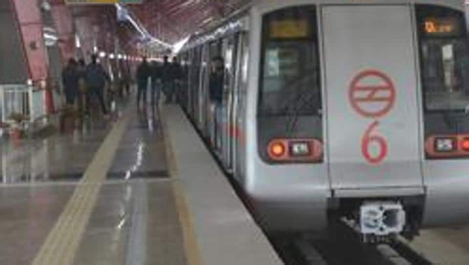 Police said the man jumped before a moving metro train at Jawaharlal Nehru Metro station in Delhi on the morning of December 13, 2019.