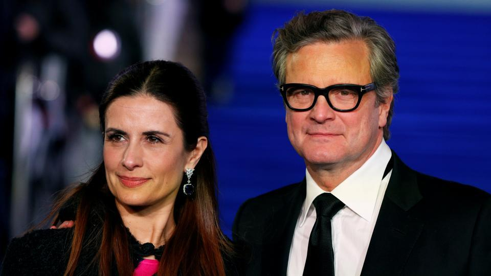 Colin Firth and his wife Livia Giuggioli attend the European premiere of Mary Poppins Returns in December last year.