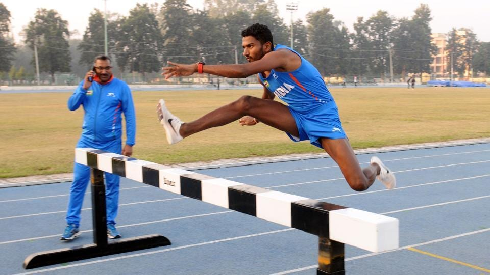 """Athlete Avinash Sable during his training session at NIS in Patiala. """"Working hard is in my blood,"""" Sable says. """"Whatever memories I have of my childhood, most of it is seeing my parents' struggles to feed me and my brother every night."""" (Bharat Bhushan / HT Photo)"""