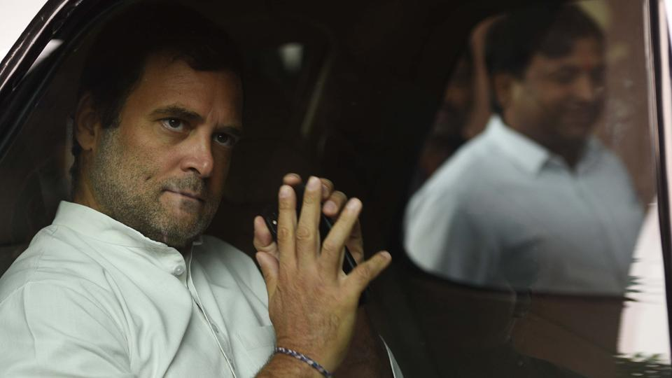 Congress MP Rahul Gandhi during the Winter Session of Parliament, at Parliament House, in New Delhi.