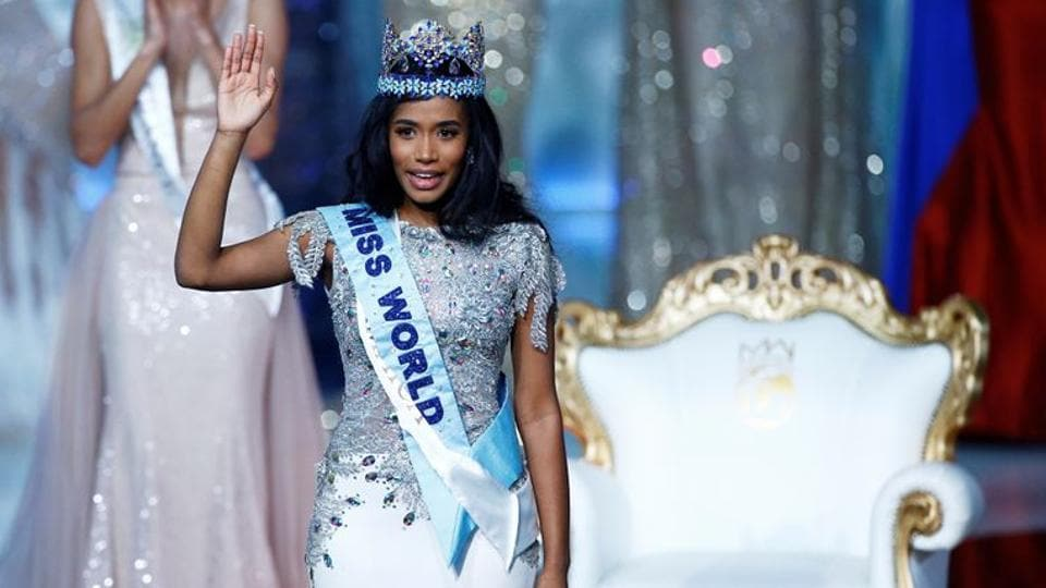 Miss World 2019 Toni Ann Singh of Jamaica celebrates winning the Miss World final in London, Britain December 14, 2019.