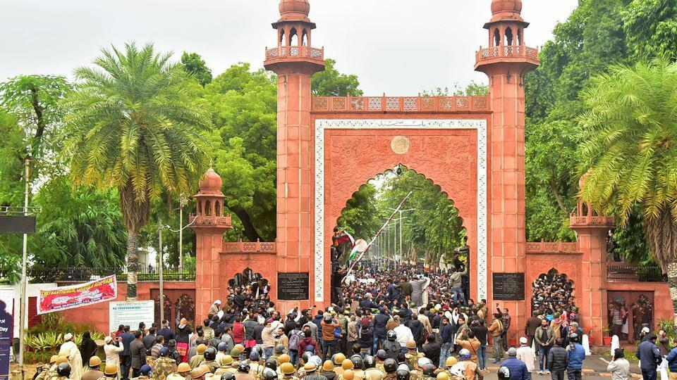 Aligarh Muslim University is witnessing protests against the Citizenship Amendment Act.