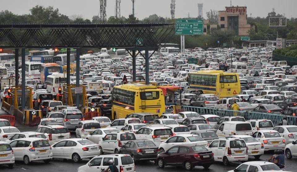 File photo of a traffic jam seen at Delhi- Gurgaon Expressway