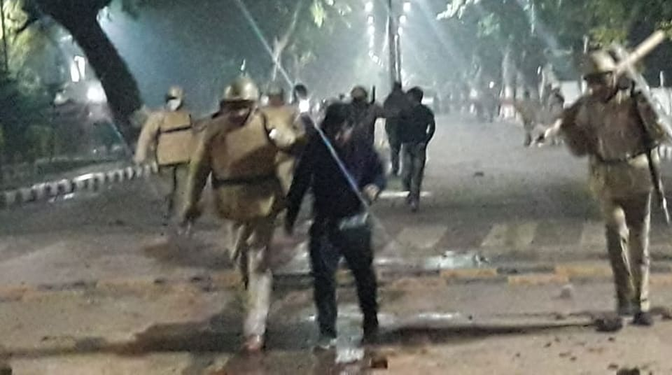 Violence erupted in AMU after students decided to move out of the campus against the police crackdown in Delhi's Jamia Millia University.