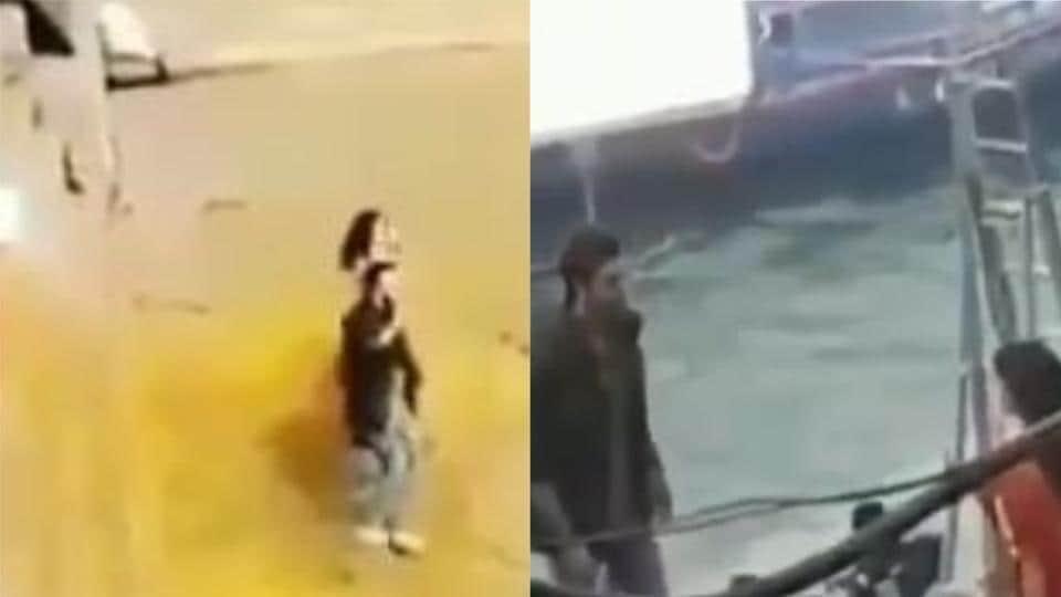 Brahmastra: Screengrabs from the videos show Alia Bhat and Ranbir Kapoor dancing in Varanasi.