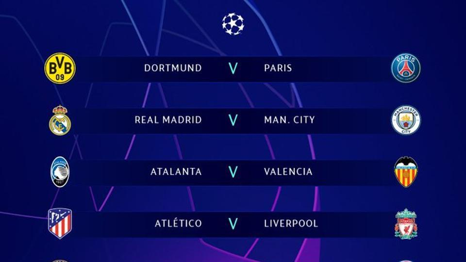 The draw for the UEFA Champions League round of 16.