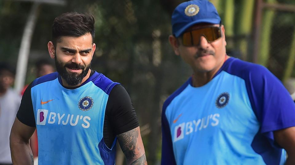 India's captain Virat Kohli and head coach Ravi Shastri