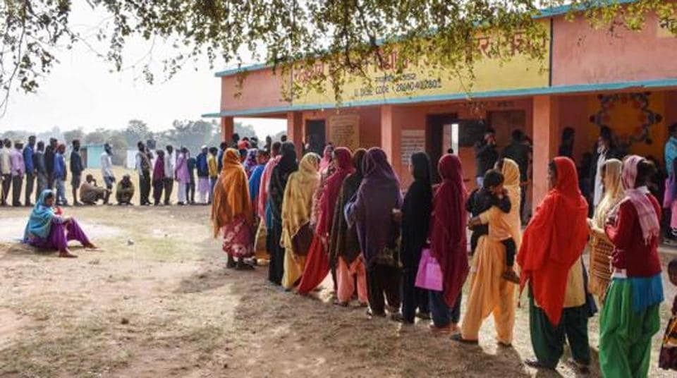 The third phase of state elections was hit by violence as one person was killed and eight others injured after a mob clashed with security forces at a polling booth.