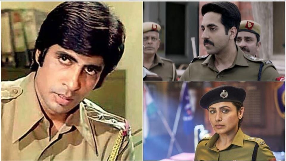 Amitabh Bachchan, Ayushmann Khurrana and Rani Mukerji have all played cops.