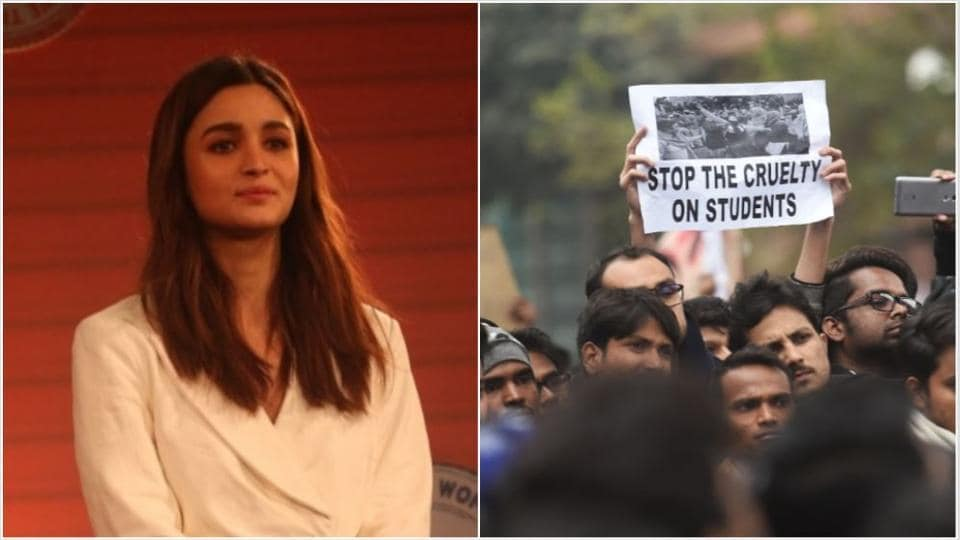Alia Bhatt has shown support towards the protesting students.