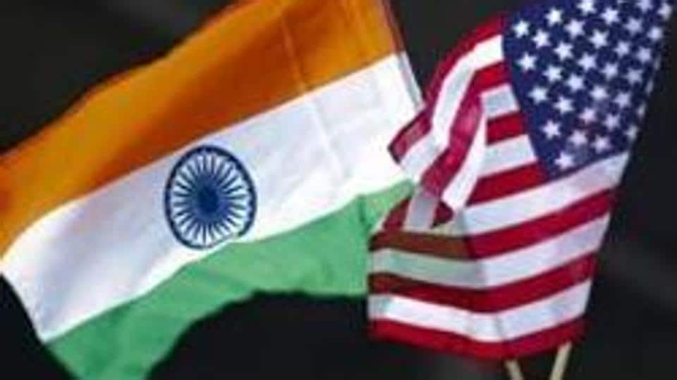 A man holds the flags of India and the US in New York in this file photo.