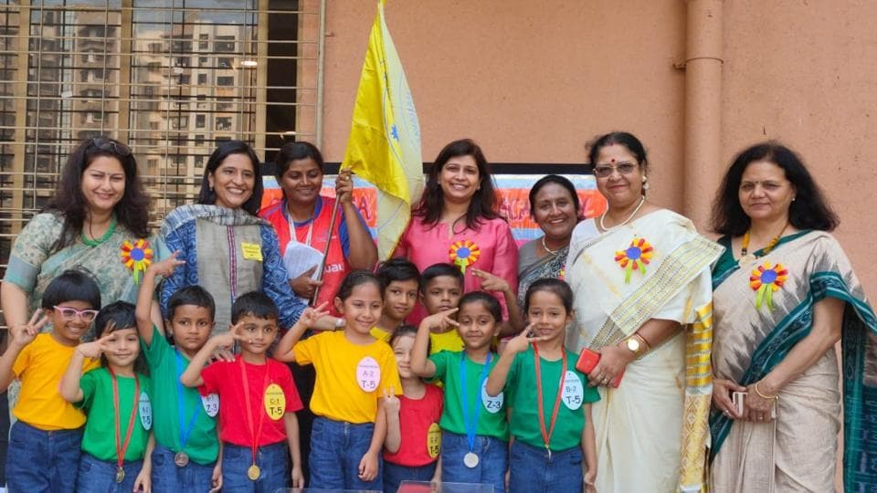 Children from Gundecha Education Academy participated in the event.