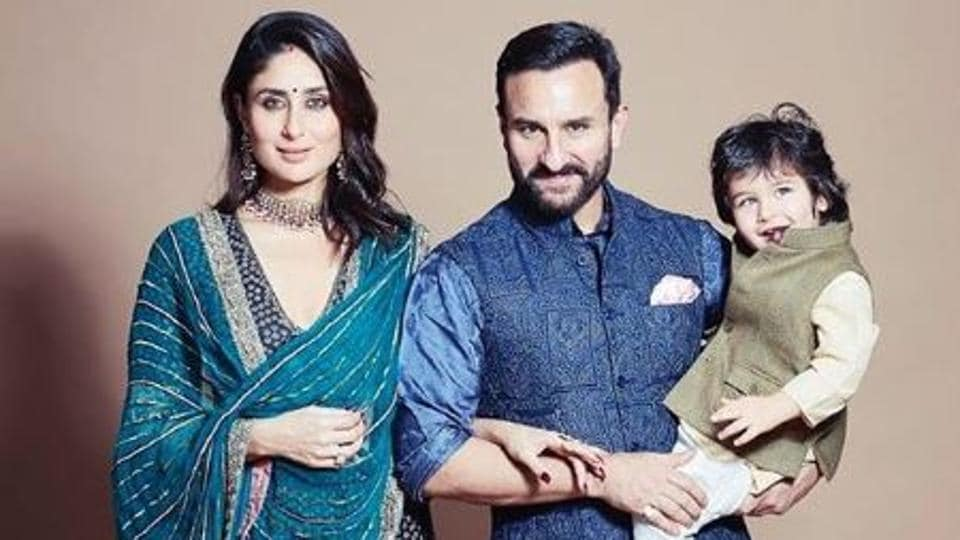 Kareena Kapoor and Saif Ali Khan with their son, Taimur Ali Khan.