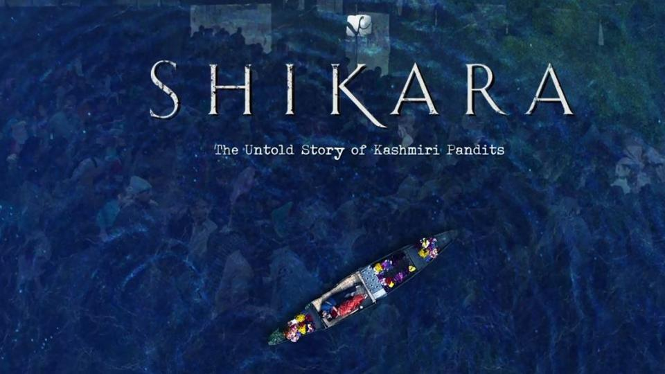 The Shikara motion poster goes with the tag line 'The Untold Story of Kashmiri Pandits'.