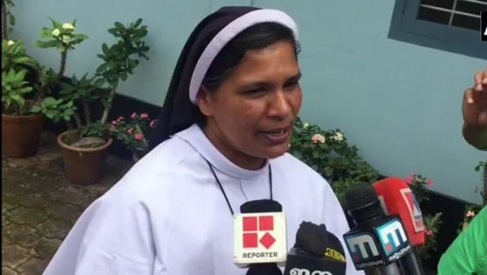 The police strengthened sister Lucy Kalappura (seen in picture) security last week after she complained of a threat to her life.