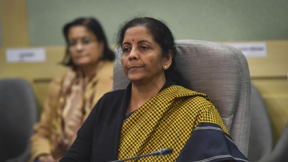 Finance Minister Nirmala Sitharaman chairs a pre-budget meeting with industrialists, in New Delhi, on December 19.