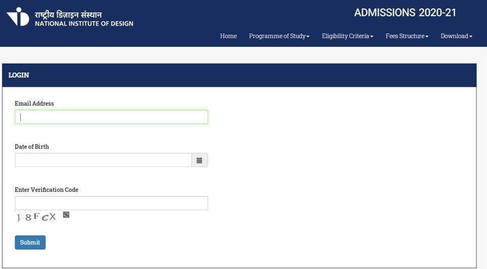 NID DAT prelims 2019 admit card. (Screengrab)