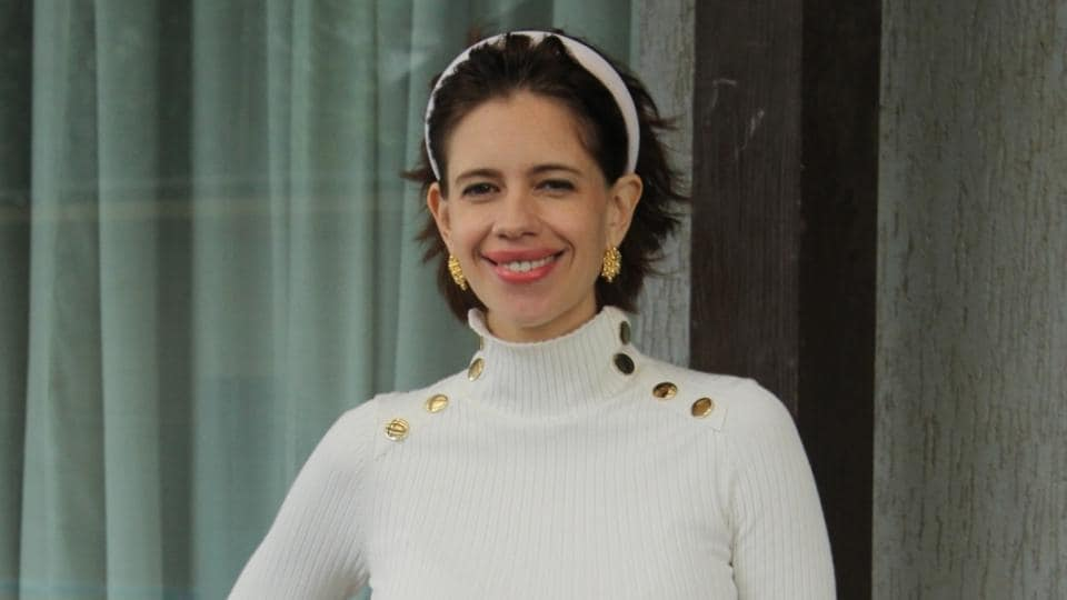 Kalki Koechlin during the promotions of her web series Bhram in Mumbai.