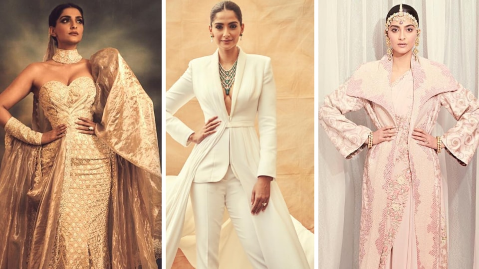 While it is almost impossible to pick only a few looks that really stood out on Sonam,  the ultimate fashionista, cause she always looks impeccable, here are our top 3 picks.  (INSTAGRAM)