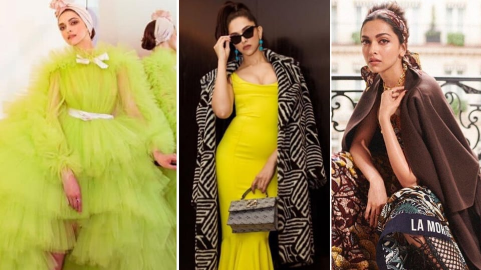While Deepika's MET Gala look was a bit too safe, it was her vintage Zac Posen lemon yellow gown with the zebra print overcoat which she wore for the after party that was a winner,  her Giambatista Valli gown along with the pale pink turban for the Cannes red carpet and her gorgeous vintage-inspired look by Dior as she attended Paris fashion week.  (INSTAGRAM)