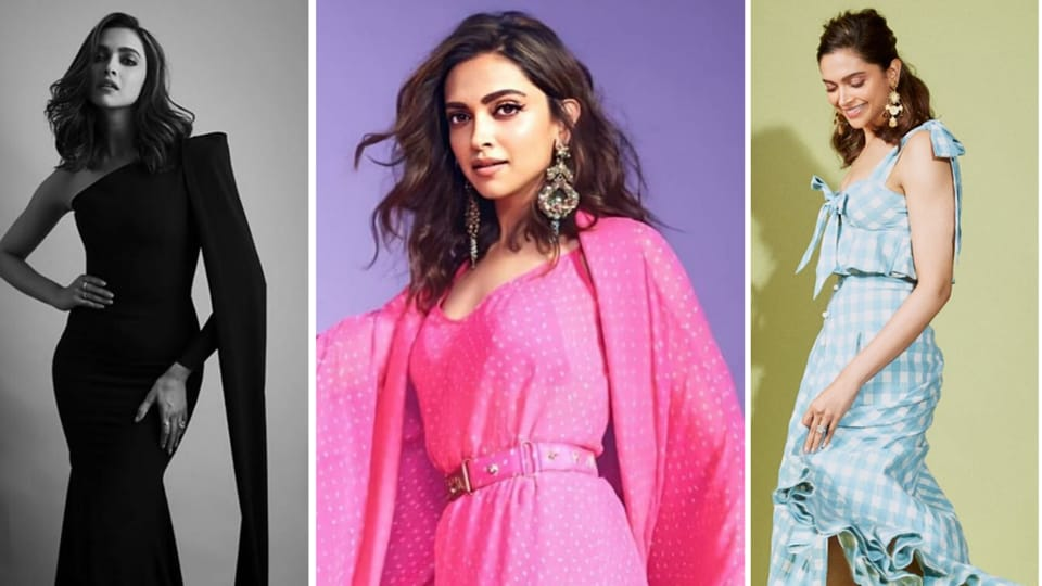 More recently, after the haircut, Deepika has also sported some interesting looks, (L-R) the actor is seen in a black gown by Alex Perry, a fusion Sabyasachi ensemble and a cute crop top and skirt combo by Anna Mason. (INSTAGRAM)